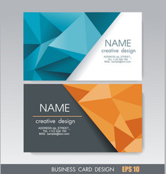 business card design with bright geometric vector image