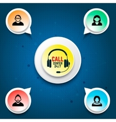 Call center user support Design elements for vector