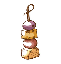 Canapes icon event snack and delicious appetizer vector