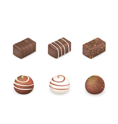 chocolate cubes and balls vector image