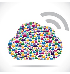 cloud computing concept download vector image