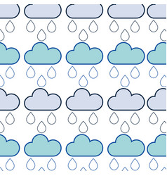 Cloud with running to natural environment care vector