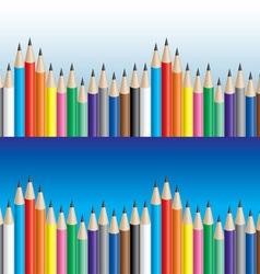 Color pencils background vector