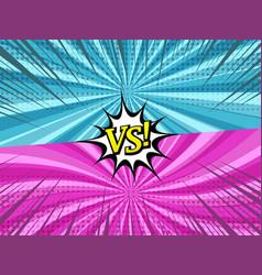 Comic duel horizontal background vector