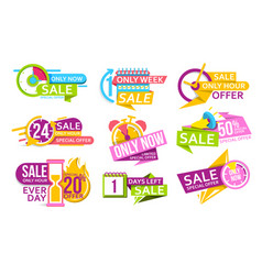 countdown banner to special offer discount vector image