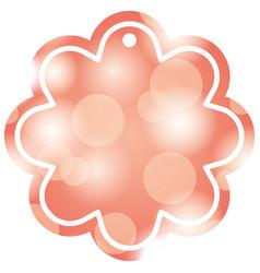 decorative christmas label bright blur circle vector image