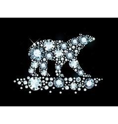 Diamond Polar Bear vector