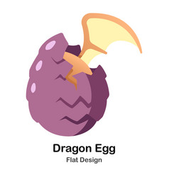 dragon egg flat icon vector image