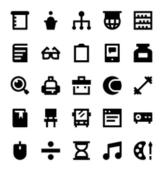 Education and School Icons 6 vector