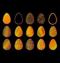 egg color set vector image