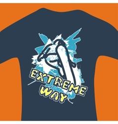 Extreme way - print for sweatshirt vector image
