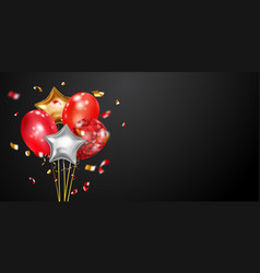 festive background with air balloons vector image