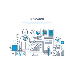 Finance indicators statistical data marks of vector
