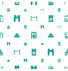 Gate icons pattern seamless white background vector