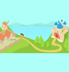 germany landscape concept cartoon style vector image