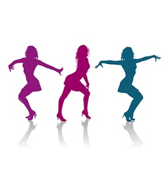 Girls dancing ladies dance vector image