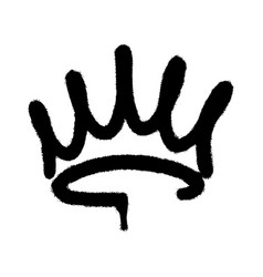 Graffiti spray crown icon with over spray in vector