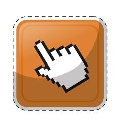 Hand cursor icon vector