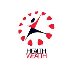 Healthy lifestyle conceptual logo symbol for use vector