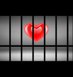 Heart in jail vector