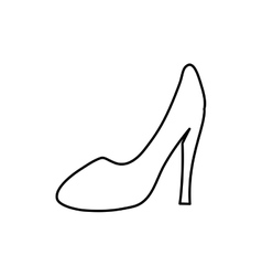 Heel woman fashion vector image