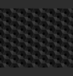 hexagonal black embossed seamless pattern vector image