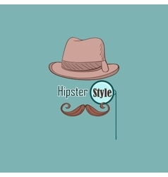 Hipster style logo vector image