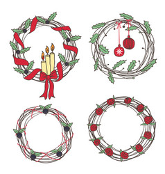 Holiday wreaths vector