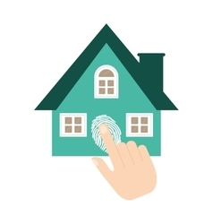 Home security system fingerprint vector
