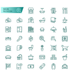 house and real estate icons set vector image