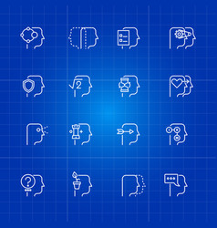 human mind processes icons set vector image