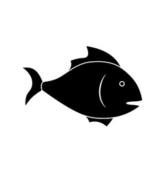 Icon of fish vector image