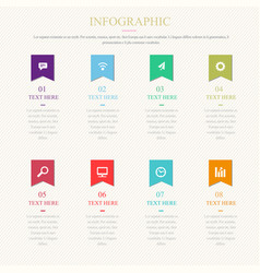 infographic template with 1-8 steps vector image