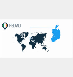 Ireland location modern map for infographics all vector