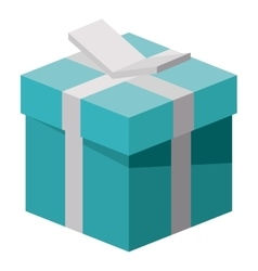 Isometric gift box with bowtie design vector