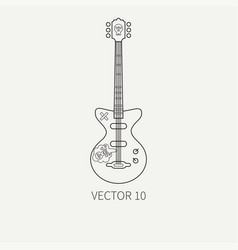 Line flat icon musical instruments vector