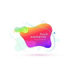 Liquid color abstract geometric shape fluid vector