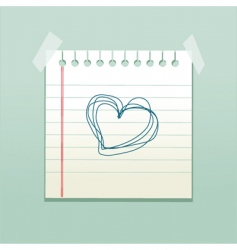 love note vector image vector image