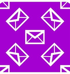 Mail envelope web icon flat design Seamless vector