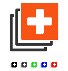 Medical documents flat icon vector