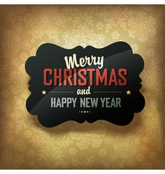 merry christmas design on golden background vector image