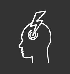 migraine chalk icon vector image