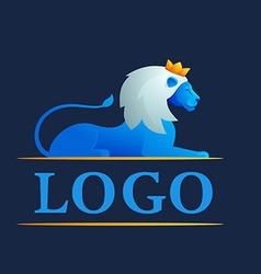 Modern 3d volume lion logo vector