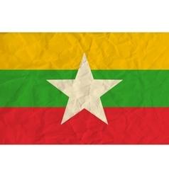 Myanmar paper flag vector image