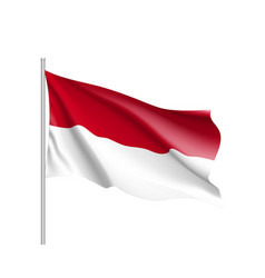 national flag of indonesian republic vector image