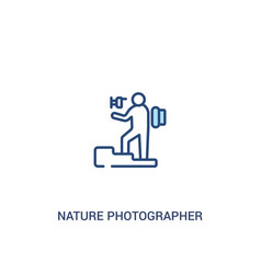 Nature photographer concept 2 colored icon simple vector