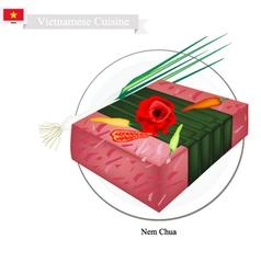 Nem Chua or Vietnamese Fermented Pork vector