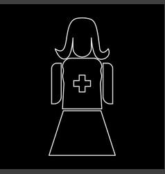 nurse the white path icon vector image