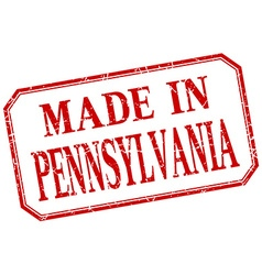 Pennsylvania - made in red vintage isolated label vector