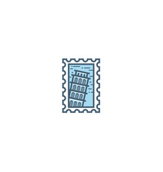 pisa stamp vector image